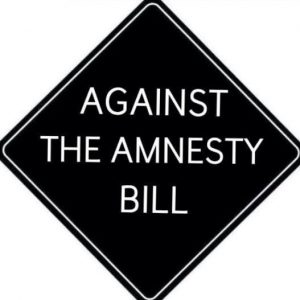 against the amnesty bill