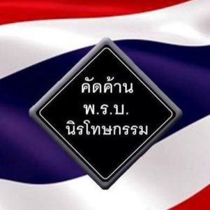 คัดค้าน พ.ร.บ. นิรโทษกรรม ธงชาติ